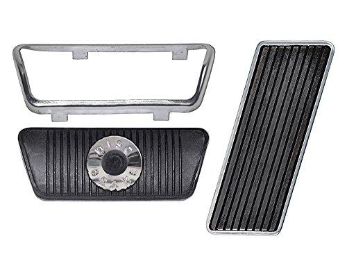 Gas-Brake Pedal Pads Kit 1965-67 Mustang Automatic Transmission Disc Brakes 1967 Cougar (EB65MUPEDST-ATDISC)