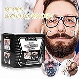residentD Premium Beard Grooming Cream for Men - 100% Organic Unscented Beard Cream,Mustache & Beard Fashion Beard Hair Colouring Tint Cream Moustache Blackening Shampoo (10 Pcs)
