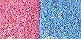 Sewing Essentials Online 40 mini botones de corazón de 6 mm ~ azul bebé y rosa bebé manualidades muñecas ropa tarjeta