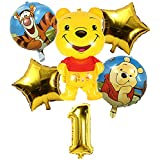 ALHX Winnie The Pooh Birthday Party Decoration, 1st Birthday Balloon, Winnie The Pooh Themed Party Supplies, Large Helium Foil Birthday Balloon, Birthday Gift Birthday Party for Girl boy