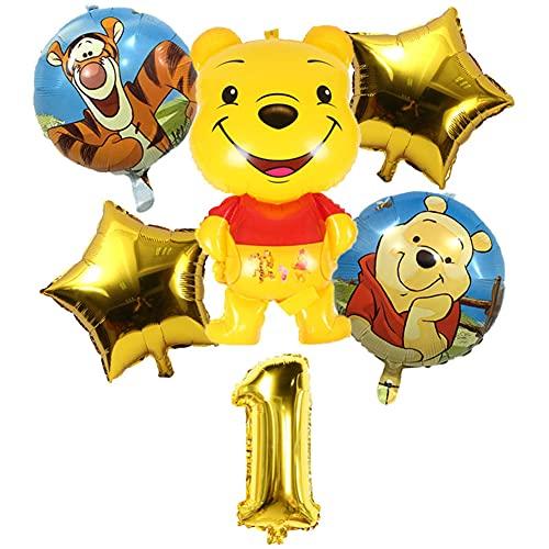 Ksopsdey Winnie The Pooh Decoración De Fiesta, 1er Cumpleaños Bebe Globos Decoracion, Party Decorations Supplies, Globos Numeros 1 Decoracion, Cumpleaños Globo Decoración