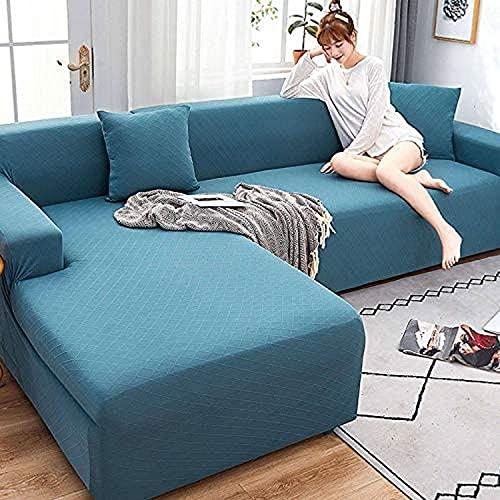 zvcv Funda para sofá de 123 plazas Funda para sofá elástica Estampada Funda Protectora para sofá de poliéster Spandex Funda Protectora para Muebles-4 plazas + 4 plazas-Gris Claro