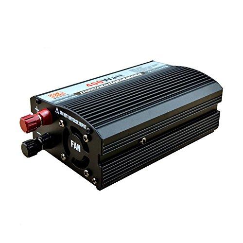 Convertisseur BQ Power Inverter 400 W DC 12V to AC 220V Transformateur tension de voiture Briquet de cigarette Chargeur de voiture USB (BLaCK)