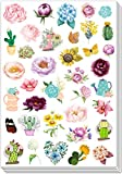 HaokHome S-024 197pcs Vinyl Flower Stickers for Teens Kids Toddler Cars Stickers