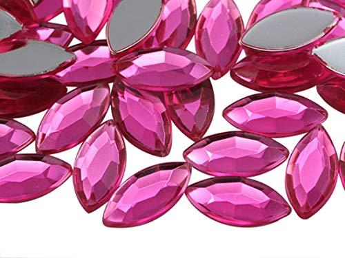 pink acrylic gems - 8