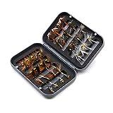 CeXaoYg 32 unids/Caja Trucha NINFA Mosca Pesca señuelo seco/húmedo Moscas ninfas Pesca de Hielo señuelos de Pesca Artificial con enchufes CeXaoYg (Color : 32Pcs in Box)