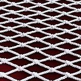 Red de Carga Al Aire Libre Red de Protección Blanca para Balcón Escalera Barandilla Red de Seguridad para Mascotas para Niños Valla de Construcción para Parques Infantiles Red de(Size:1*4m/3.3*13.1ft)