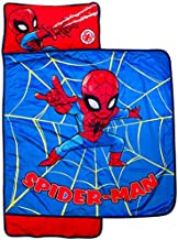 Marvel Super Hero Adventures Spidey Action Nap Mat - Built-in Pillow and Blanket Featuring Spiderman - Super Soft Microfiber Kids'/Toddler/Children's Bedding, Ages 3-5 (Official Marvel Product)