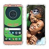 SHUMEI Coque personnalisée pour Motorola Moto G6, photo personnalisée absorption des chocs Coque...