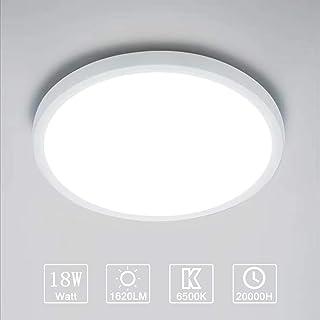 alta 2.8cm lampada da soffitto moderna per cucina diametro 29.3cm salotto o sala da pranzo plastica IP20 230V 2400 Lm LED integrati 18W luce bianca naturale 4000K Plafoniera LED ultra sottile