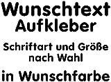 Samunshi® Aufkleber Autoaufkleber Name Wunschname Sticker Wunschtext Personalisierbar Wunschaufkleber