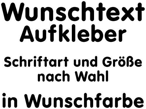 Samunshi® Aufkleber Autoaufkleber Name Wunschname Sticker Wunschtext Personalisierbar Wunschaufkleber Tuning