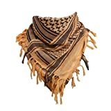 LIOOBO algodón transpirable cómoda 1pc árabe chal cuello bufanda palestina bufanda para mujeres recorrido