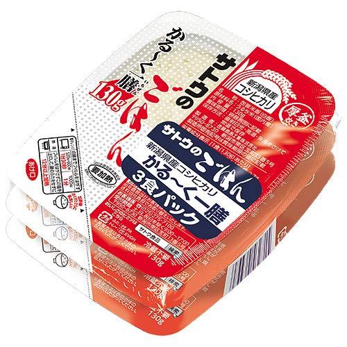 サトウ食品 サトウのごはん 新潟県産コシヒカリ かる〜く一膳 3食パック(130g×3食)×12個入