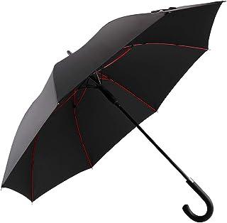 Vialifer 改良耐風構造 長傘 超軽量 全グラスファイバー材質 撥水耐風 丈夫 大型 自動開けステッキ傘 紳士傘 大きな傘 男性 通勤 通学