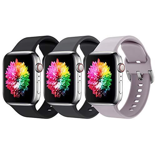 Cinturino Apple Watch, Compatibile per Apple Watch 44mm 42mm 38mm 40mm, Silicone Traspirante Cinturini Sportiva di Ricambio per Apple Watch SE/iWatch Series 6 5 4 3 2 1, Uomo e Donna Cinturini