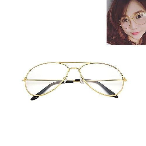 d10420a65e4 Vintage Pilot Aviator Sunglasses Clear Lens Glasses Geek