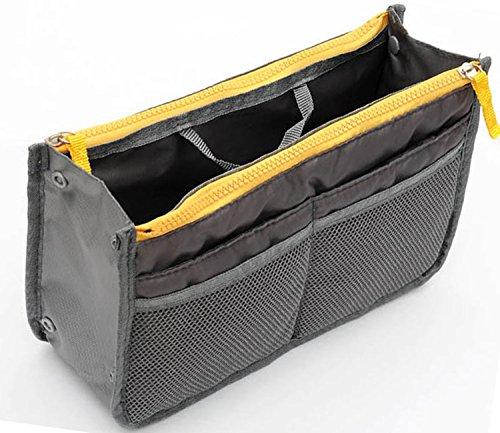 TheWin Travel Organiser Insert Tidy Cosmetic Handbag Black