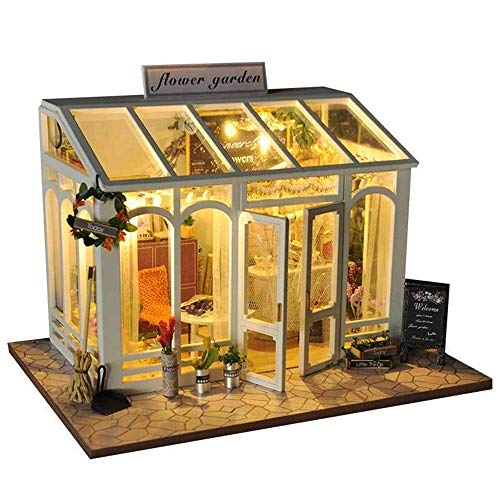 N/Z Haushaltsgeräte Puppenhaus DIY Miniaturzimmer Set-Woodcraft Baukasten-Holzmodellbau Set-Mini Haus Handwerk Beste Geburtstagsgeschenke Häuser (Farbe: Mehrfarbig Größe: 21x32x5,5cm)