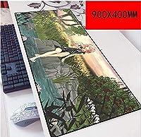 マウスパッド罪深いクラウンスピードゲーミングマウスパッド| XXLマウスパッド| 900 x 400mm大型サイズの厚いベース|完璧な精度とスピード E