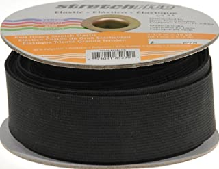 Stretchrite Heavy Stretch Knit Elastic Spool, 1 1/2-Inch by 10-Yards, Black