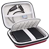 Lacdo Hard Drive Case for Seagate Portable Expansion Seagate One Touch Seagate Backup Plus Slim Seagate Game Drive Portable External Hard Drive 1TB 2TB 3TB 4TB 5TB USB 3.0 2.5 Inch Travel Bag, Red