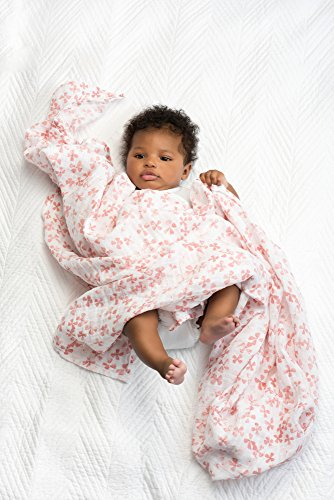 aden + anais Swaddle Blanket, Boutique Muslin Blankets for Girls & Boys, Baby Receiving Swaddles, Ideal Newborn & Infant Swaddling Set, Perfect Shower Gifts, 4 Pack, Bird Song