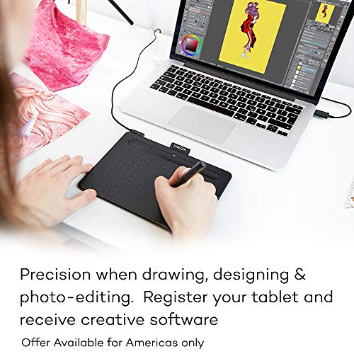 Wacom CTL4100 Intuos Graphics Drawing Tablet with Software, 7.9' X...