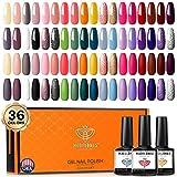 Best Nail Polish Kits - Gel Nail Polish Set, Modelones 36 Pcs Colors Review