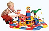 Wader Quality Toys Children's Parking Tower with 3 Floors, 2 Cars and Playstreet