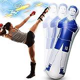 Shangle-sunshine Maniquí de fútbol inflable para portero, maniquí de aire...