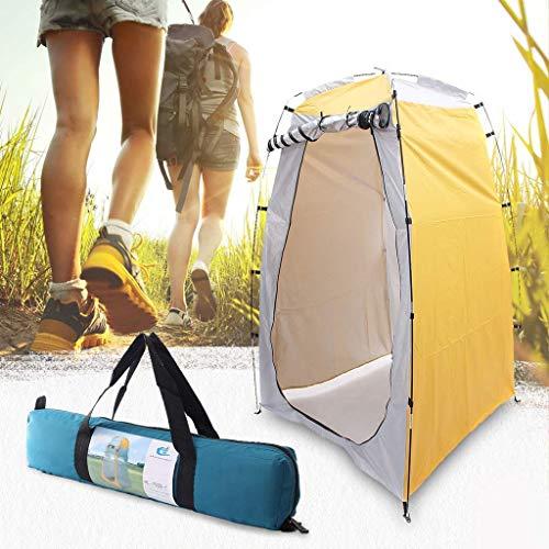 Qazxsw Carpa de privacidad portátil para Exteriores Ducha Baño Cambio de Sala de Montaje Carpa de Campamento Refugio Privacidad de Playa Carpa de baño para Exteriores 120 * 120 * 180 CM