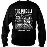 YBshirt Hombre's I Wish for No One Else to Be Hurt Sweatshirts, The Pitbull Prayer T Shirt