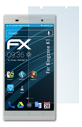 atFolix Schutzfolie kompatibel mit Kingzone K1 Folie, ultraklare FX Displayschutzfolie (3X)