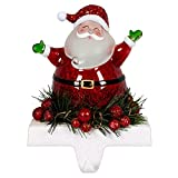 Jolly Santa LED Light-up 7 inch Stocking Holder Christmas Figurine Decoration