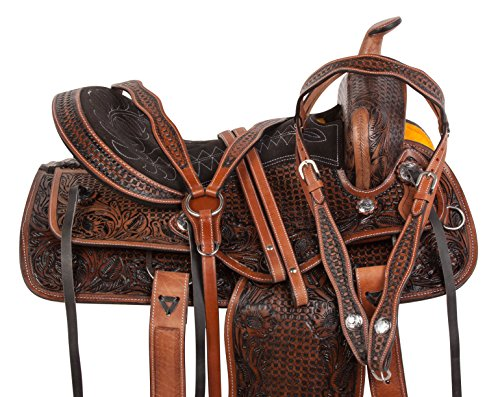 Acerugs All Natural Cowhide Western Leather Horse Saddle Comfy SEAT Pleasure Trail Barrel Racing...