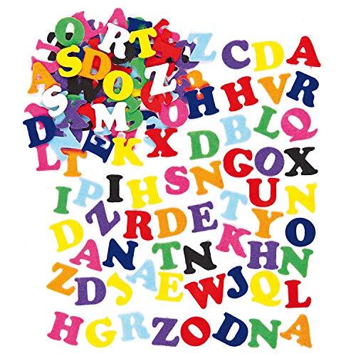 Anjing Letras de Fieltro Autoadhesivas (Paquete de 550) para niños para Decorar Artes y Manualidades