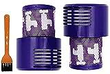 Juego de 2 filtros Kombi compatibles con aspiradoras Dyson V10 SV12, accesorio de repuesto, filtro V10 SV12, aspiradora sin hilos Hepa Serie 969082-01