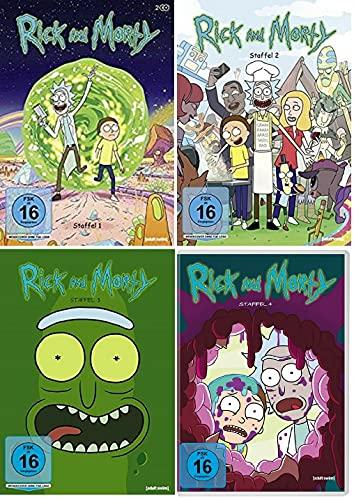 Rick & Morty Staffel 1-4 (1+2+3+4, 1 bis 4) [DVD Set]