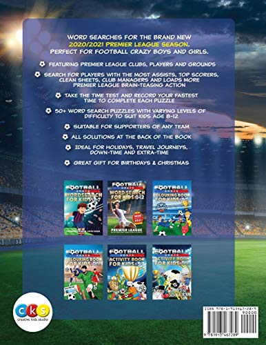Football Word Search For Kids: Premier League 2020/2021. Football Crazy Age 8-12.