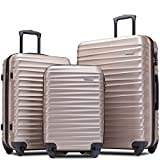 Merax Afuture Luggage Set Hardside Lightweight Spinner Suitcase 20' 24' 28'...