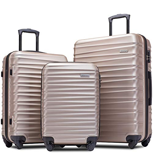 Merax Afuture Luggage Set Hardside Lightweight Spinner Suitcase 20' 24' 28'