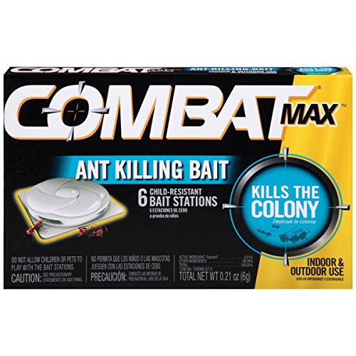 Combat Max Ant Killing Bait Stations, Indoor and Outdoor Use, 6 Count