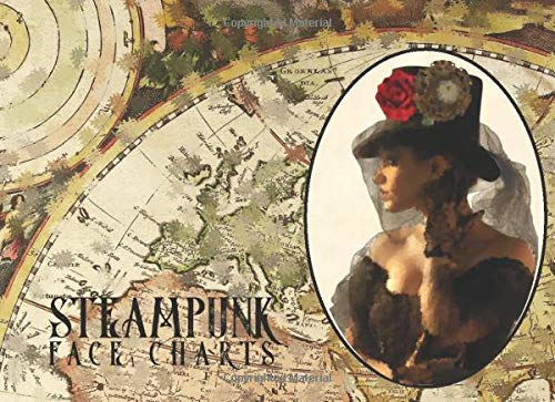 Steampunk Face Charts: Victorian Ladies Steampunk Costume Essentials Planner for Makeup Hair Jewelry and Accessories