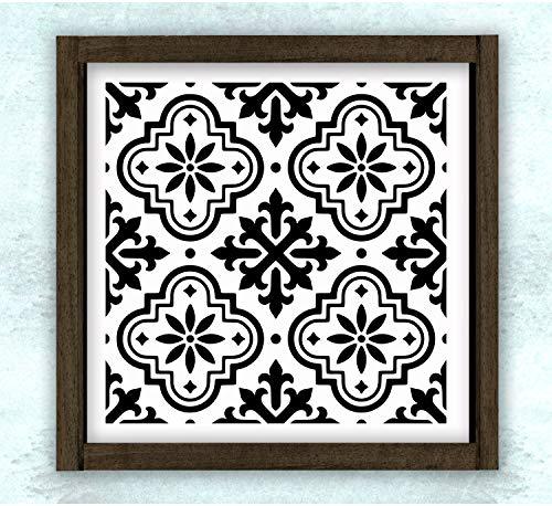 Ced454sy Marokkaanse Spaanse Tegel Patroon 3 Art houten bord Cadeaubord Art Decor