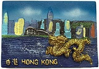 3Dドラゴン冷蔵庫マグネット、香港の観光記念品、観光名所の冷蔵庫用マグネット、クリエイティブホーム&キッチンデコレーション