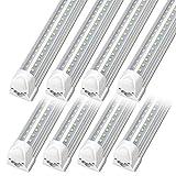 Kihung 3FT LED T8 Integrated Light Fixture, V Shape Tube Light, 36W, 4680lm, 6000K,...