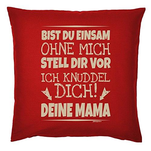 Art & Detail Shirt Coussin : Mama Mom mères – bist TU Me Solitaire sans Je t'Knuddel. Mama – Comme Cadeau