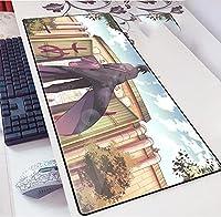 NARUTOマウスパッド大型ゲームアニメマウスパッド、PC用ステッチエッジ付き防水滑り止めマウスマット、ラップトップ-A_900X400X3mm