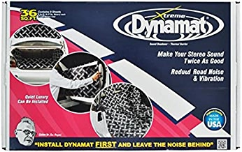 """Dynamat 10455 18"""" x 32"""" x 0.067"""" Thick Self-Adhesive Sound Deadener with Xtreme Bulk Pack, (Set of 9)"""